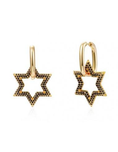 Pendientes Aro Rectangular y Estrella...