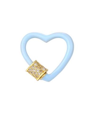 Mosquetón Joya Corazón Azul Cierre...