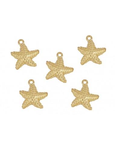 Charm Colgante Estrella de Mar Oro