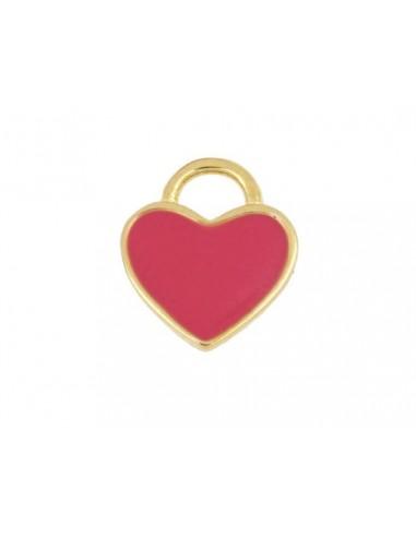 Charm Colgante Corazón Rosa Oro