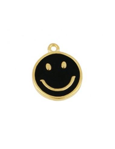 Charm Colgante Smile Negro Oro