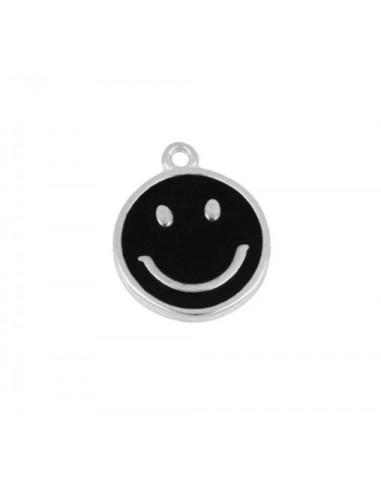 Charm Colgante Smile Negro Plata