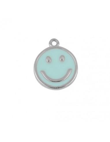 Charm Colgante Smile Azul Plata