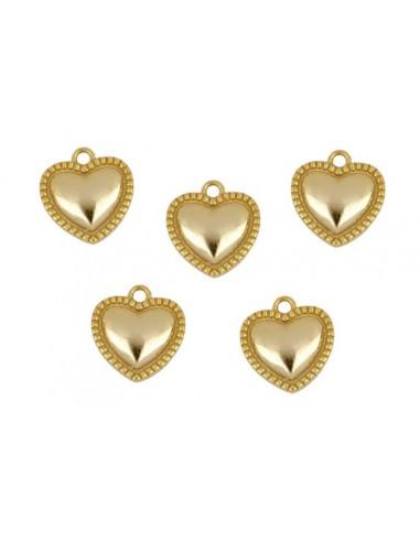 Charm Colgante Corazón Oro