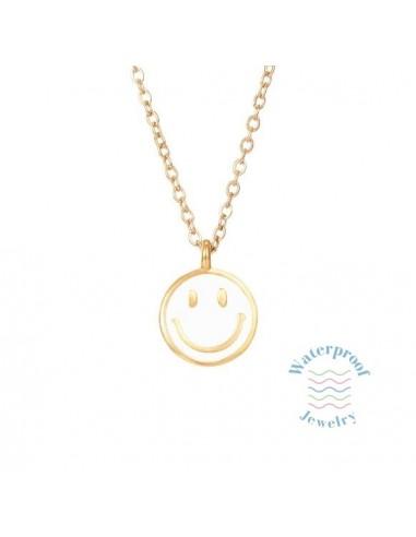 Colgante Waterproof Smile Blanco Oro