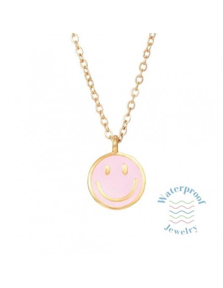 Colgante Waterproof Smile Rosa Oro