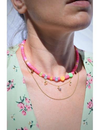 Collar Colores Love, Corazón y Lima