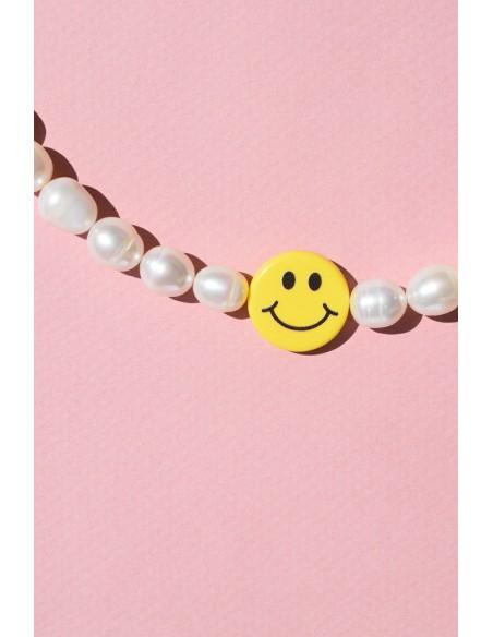 Collar Colores Perlas y Smile Grande