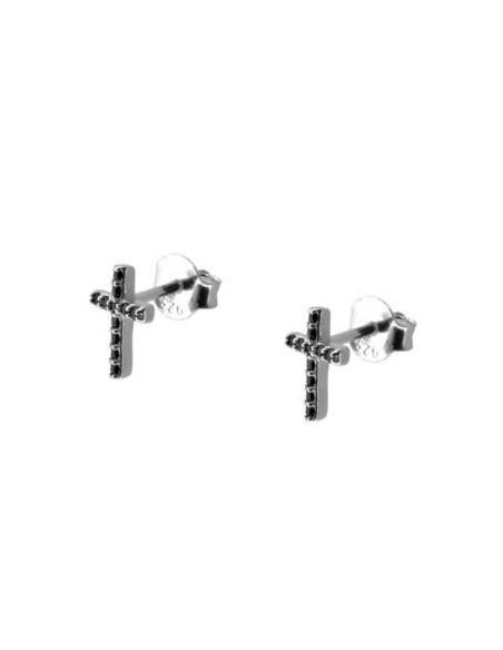 pendientes cruz con circonitas