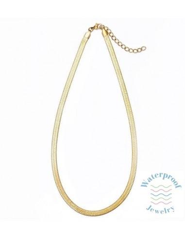 Collar Waterproof Cadena Plana 48 + 5 cm