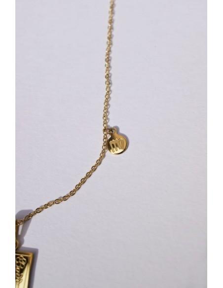Collar Waterproof Zodíaco Virgo Placa Rectangular