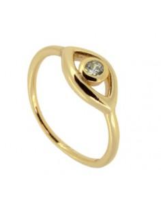 anillo ojo y circonita
