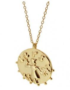 gargantilla colgante moneda Hispánica redonda