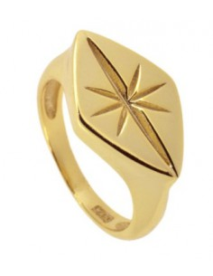 anillo sello rombo estrella