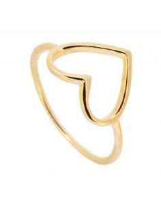 anillo corazón grande
