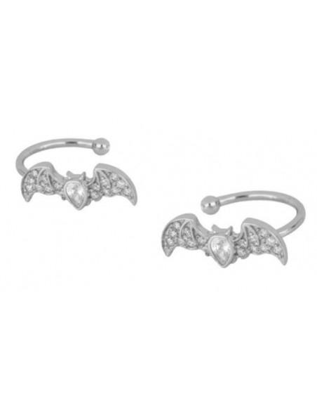 ear cuff murciélago con circonitas