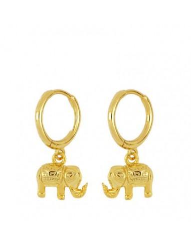 Pendientes Aro y Elefantes